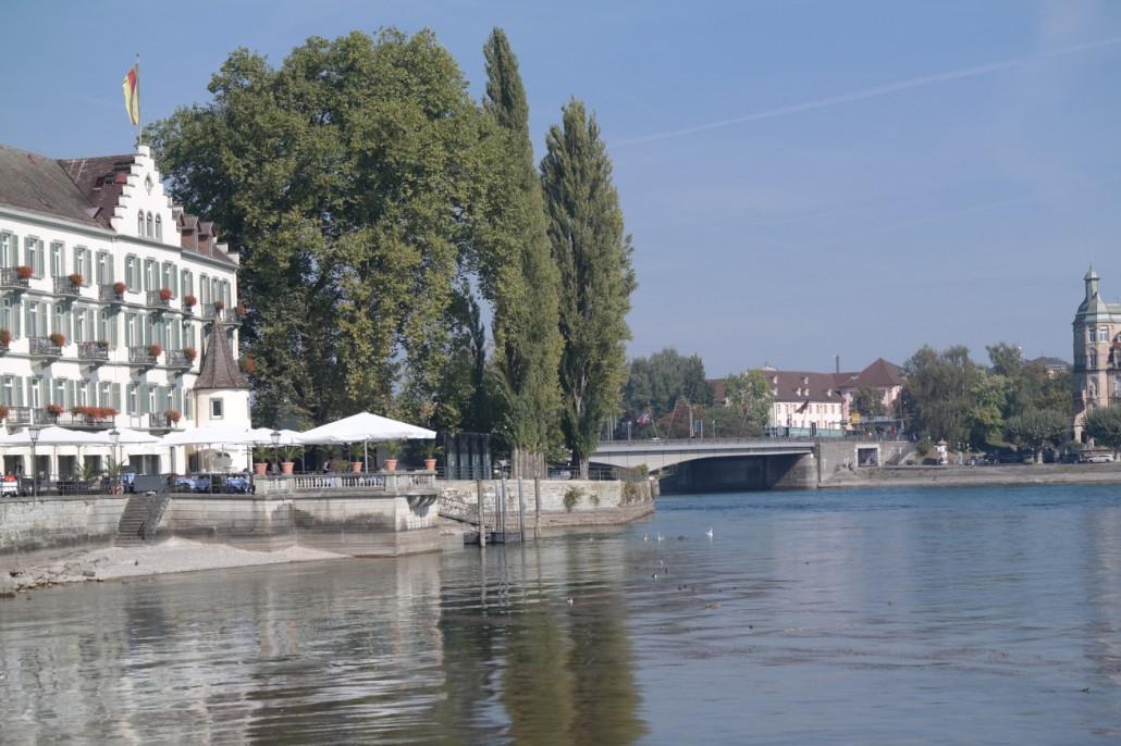 Segeln Bodensee | Inselhotel / Rheinbrücke Konstanz