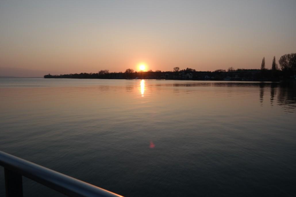 Segeln Bodensee | Abendstimmung Bodan-Werft